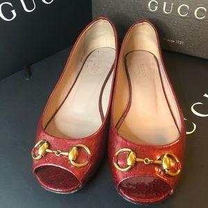 Gucci Jolene Iconic Guccissima Horsebit Flat 38.5